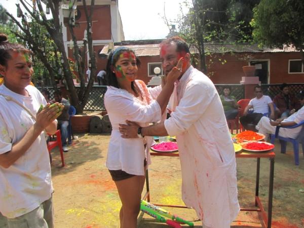 Rekha Thapa Playing Holi 2011 3