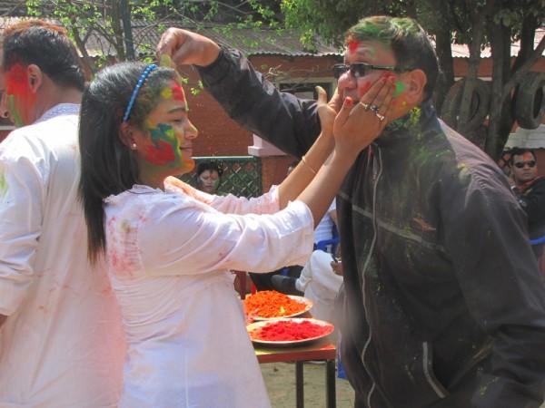 Rekha Thapa Playing Holi 2011 4