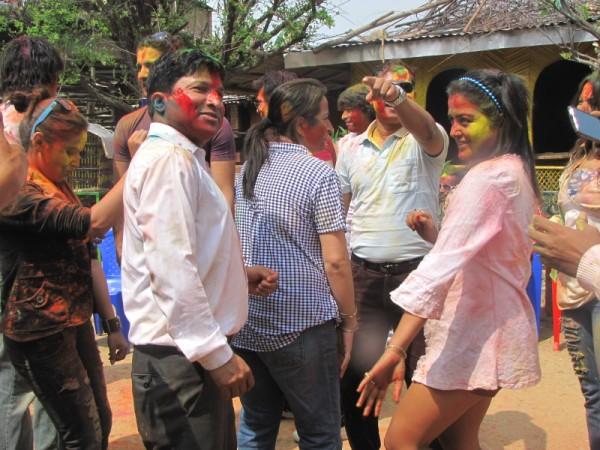 Rekha Thapa Playing Holi 2011 8
