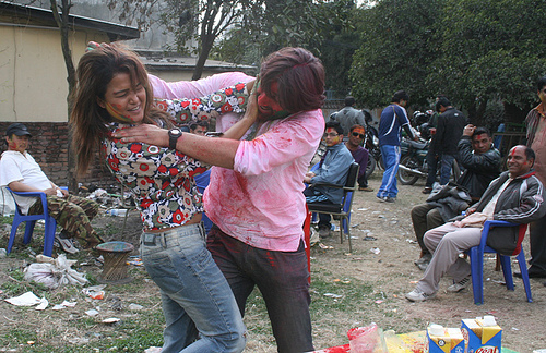 Rekha Thapa Playing holi 4