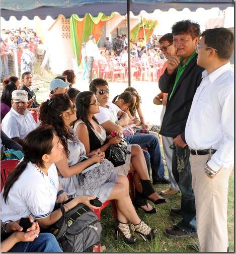 Rekha Thapa and Karishma Manandhar at Football Match in Pokhara 4