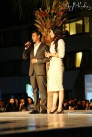 Sanjay Gupta and Malvika Subba at Trendsetters Fashion Show
