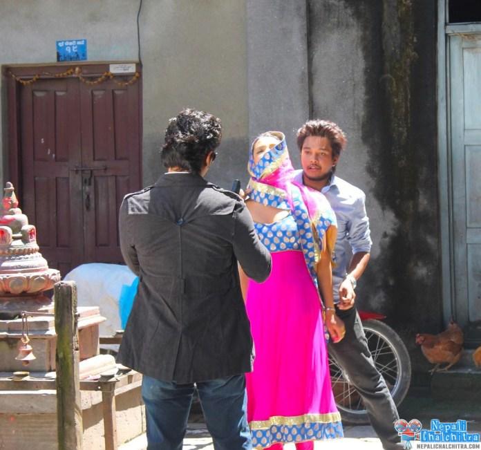 Saugat Malla Shooting Priyanka Karki