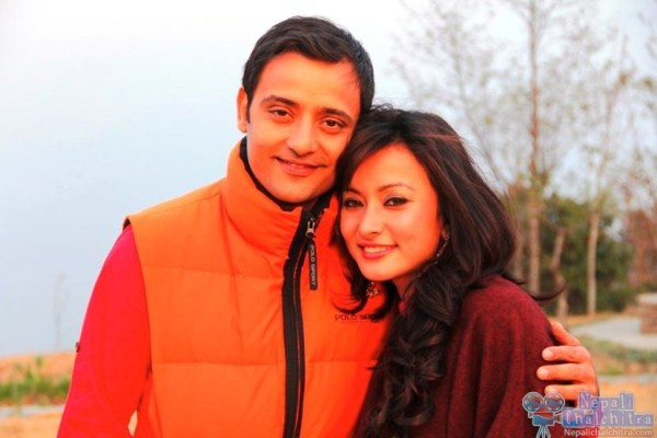 Siddhartha koirala and namrata shrestha in Megha Nepali Movie