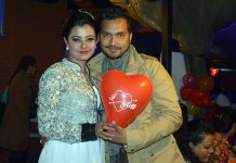 Sushma Karki 2015 Birthday with Pramod