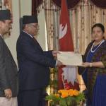 PM Dahal submits his resignation before President Bhandari