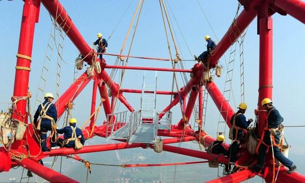 चीनद्वारा विश्वकै अग्लो विद्युत खम्वाको निर्माण शुरु