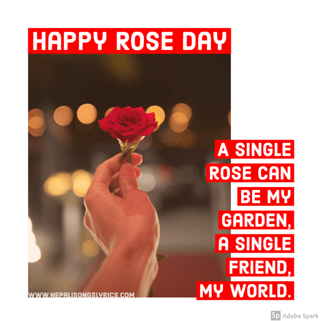 Happy rose day for friend