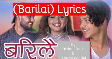 timrai maya lagcha barilai lyrics