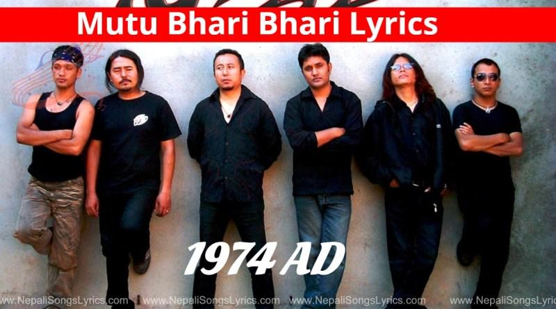 Mutu Bhari Bhari Lyrics - 1974 AD