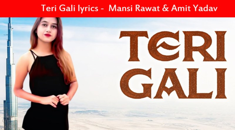 Teri Gali lyrics - Mansi Rawat & Amit Yadav _ New Punjabi Songs 2020