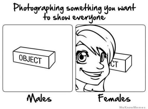 Males vs. Females : Photography