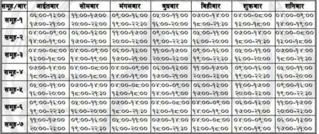 New Loadshedding Schedule (Latest Loadshedding Schedule )