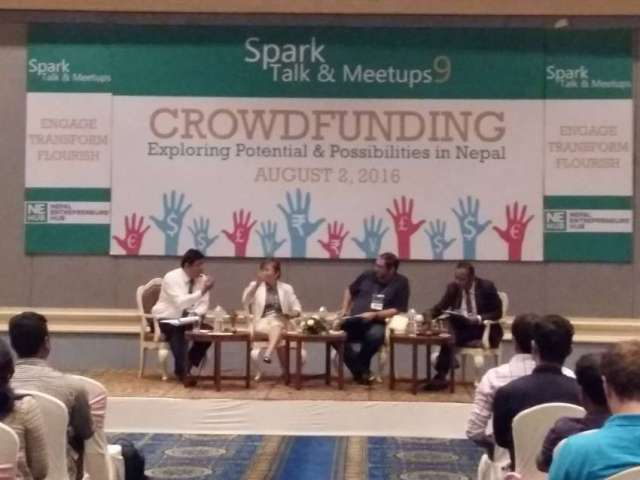 Crowd Funding Interaction Held in Kathmandu
