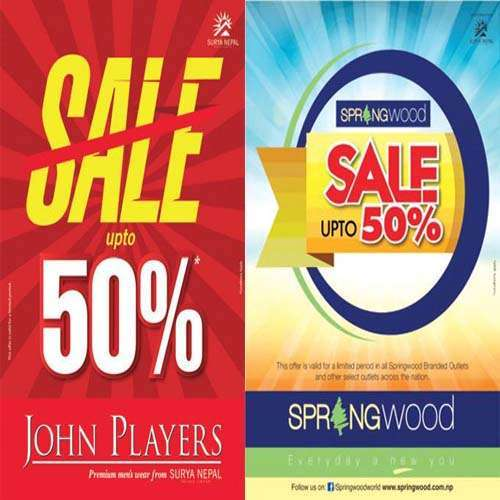 Summer Sale of Springwood and John Player
