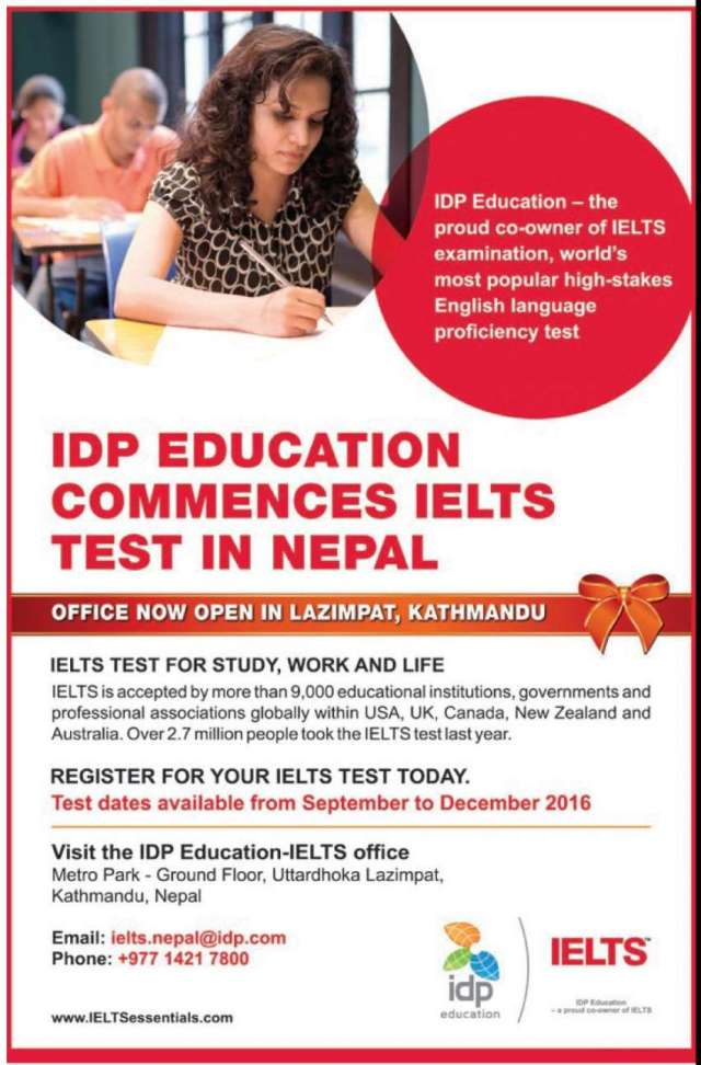 IDP Education commences IELTS test in Nepal