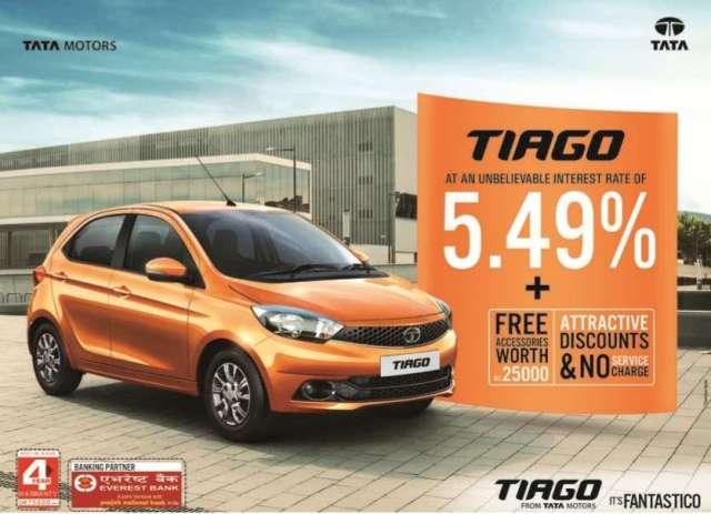 Tata Tiago in 5% Interest Rate