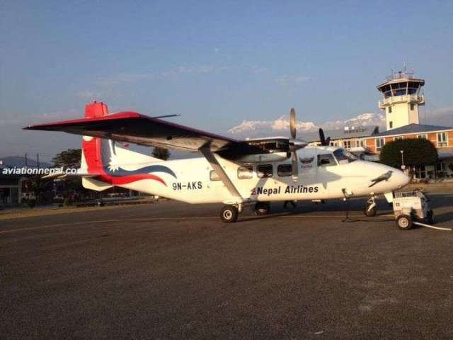 NAC New Aircraft 'Gauthali' Lands In Kathmandu