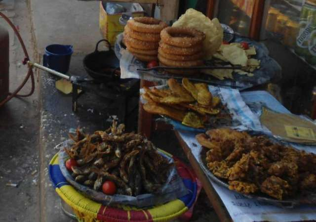 Local foods on display at shop near Palanchok Bhagwati Temple.