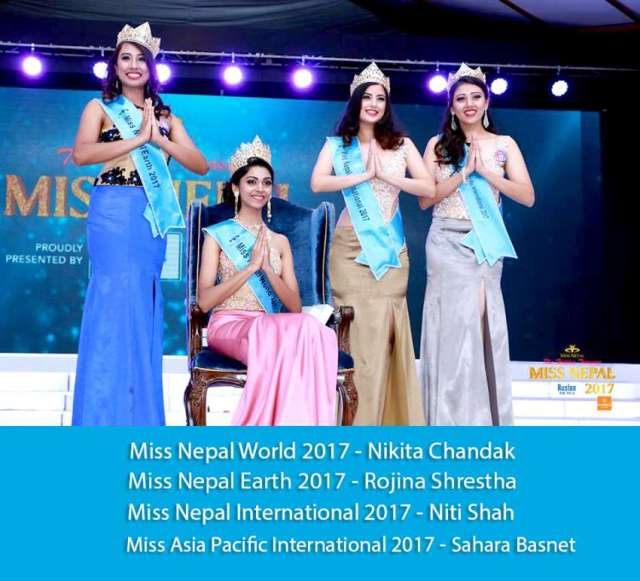 Nikita Chandak crowned Miss Nepal 2017