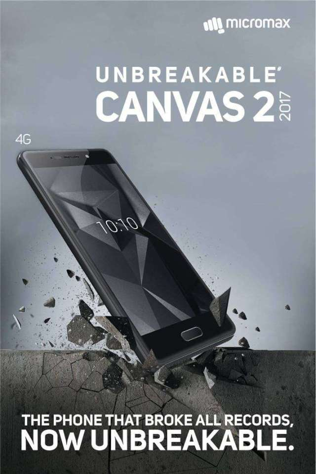 Micromax launches The Unbreakable Canvas 2 2017 (Q4310)