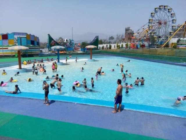 People having fun at Kathmandu Fun Valley ,Chitapol, Palanse, Bhaktapur.