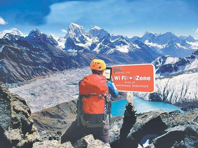Internet Service in Everest Base Camp