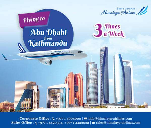 Himalaya Airlines begins Kathmandu Abu Dhabi flight
