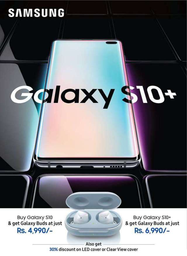 Attractive Offers on Purchase of S10 and S10+