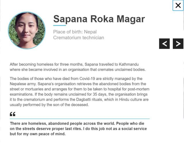 Nepal's Sapana Roka Magar on BBC 100 Women 2020