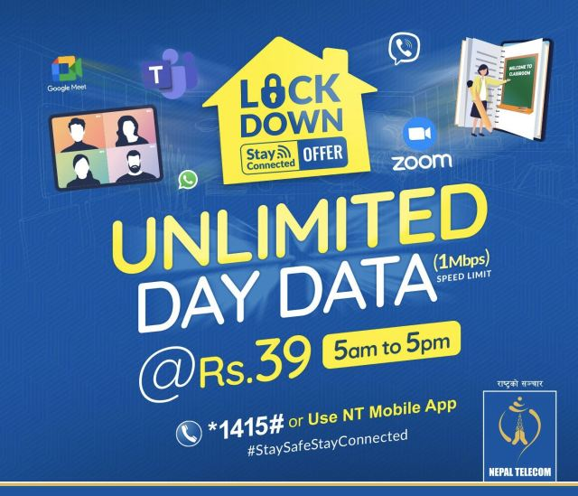 Nepal Telecom's Lockdown Stay Connected Offer