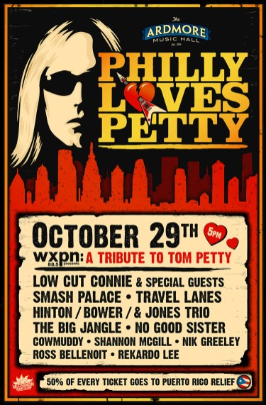 "Promotional Graphic for Ardmore Musc Hall's tribute event, ""Philly Loves Petty"""