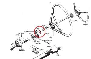 1965 1966 Mustang Turn Signal Switch Retainer, NE