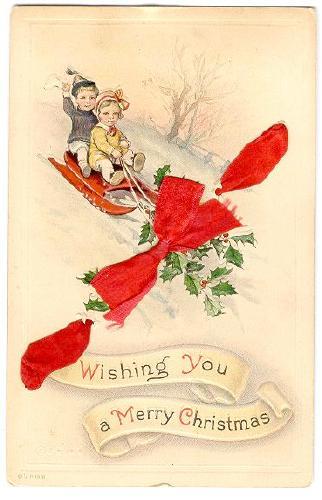 CHRISTMAS Wishing You A Merry Christmas Children On