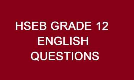 grade 12 english question