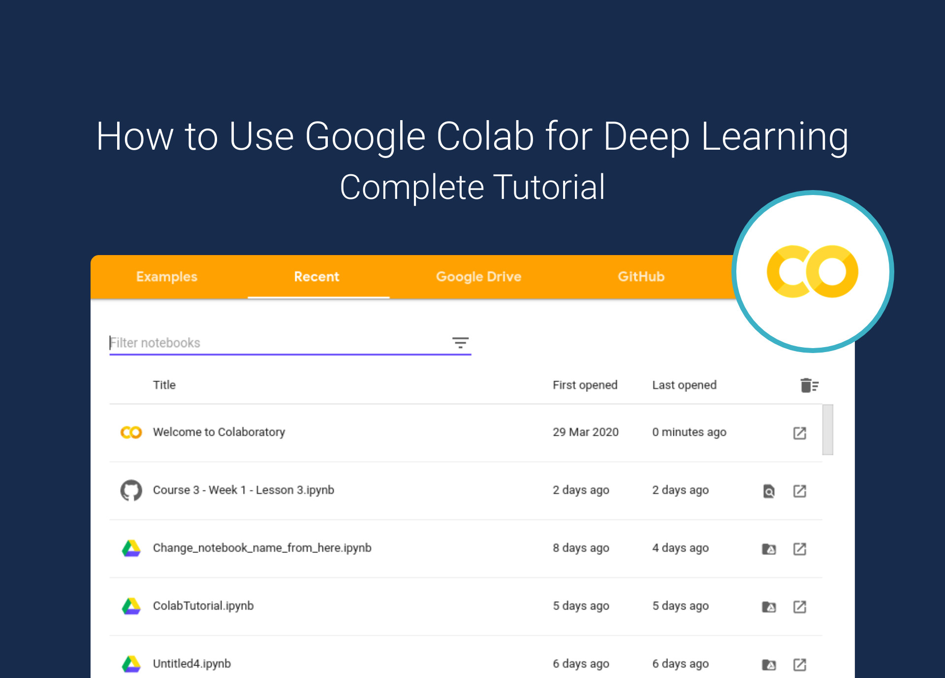 Google Colab for deep learning