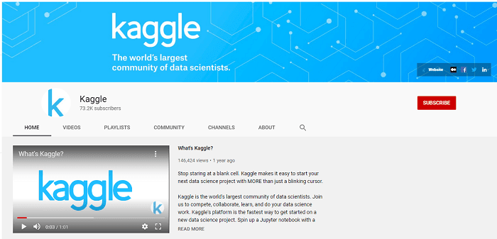 Kaggle YouTube channel