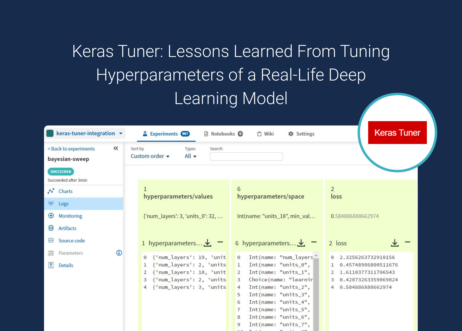 Keras Tuner: Lessons Learned From Tuning Hyperparameters of a Real-Life Deep Learning Model