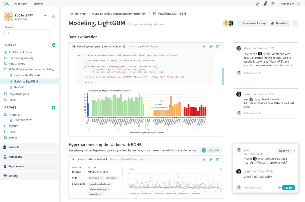 Collaboration in data science projects