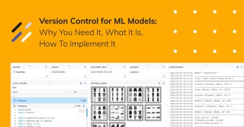 Version control for ML models