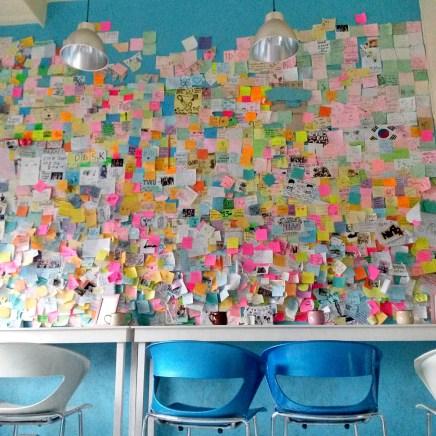 Notes being displayed for friends, families, loved ons, etc.