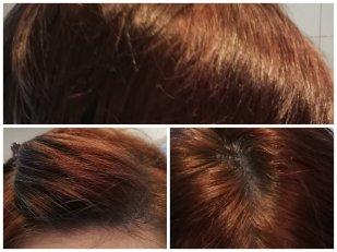 Colovist #turquoise hair auf rotem Haar