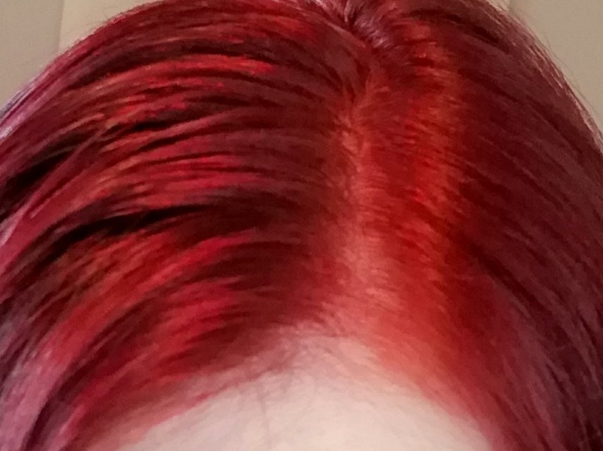 Syoss Helles Rot - Feuchte Haare