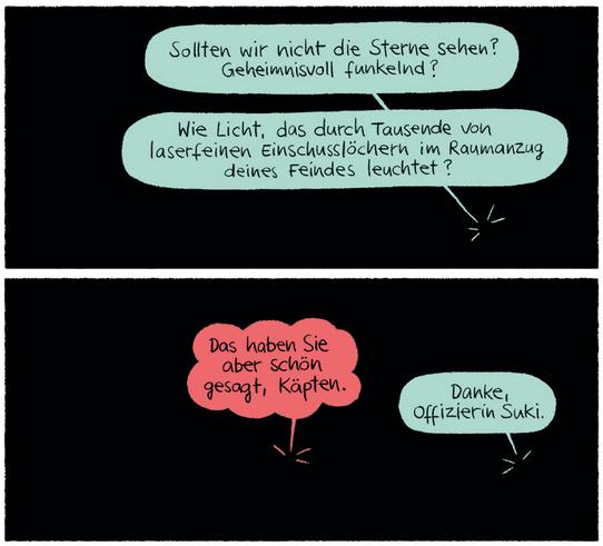 Das unsichtbare Raumschiff, Kibitz Verlag, Ausschnitt Seite 7