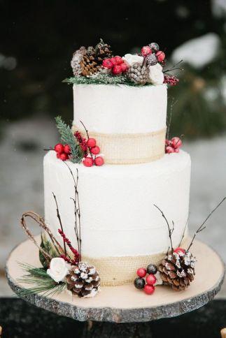 Wedding Christmas Cake 6