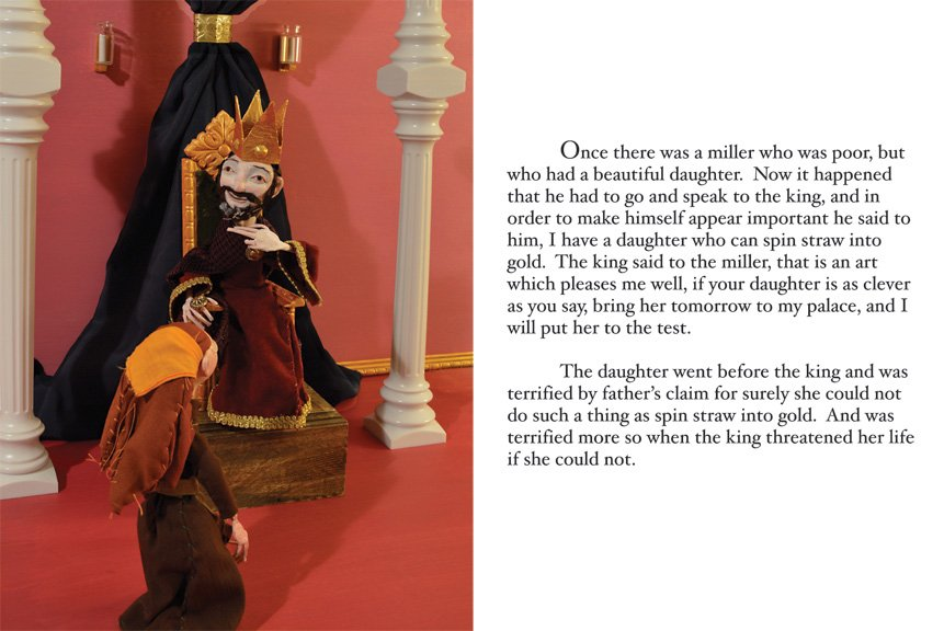 Rumplestiltskin, art doll, Grimm's Fairy Tales