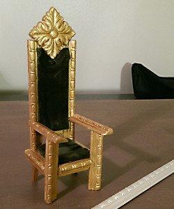 doll furniture, throne, small scale throne, doll throne