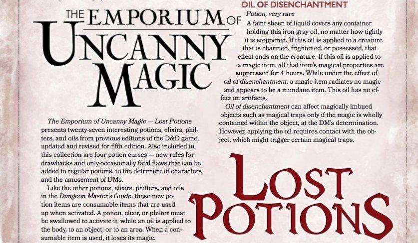 D&D 5e potions