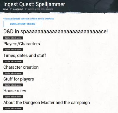 D&D Beyond Ingest Quest campaign
