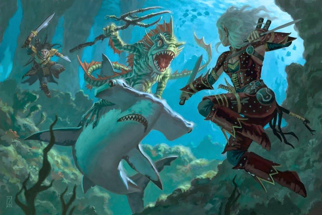 Aquatic Dungeons & Dragons Adventure